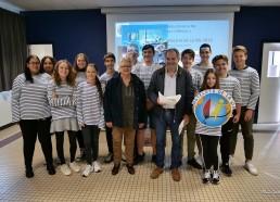 Photo de groupe avec les élus de Pornichet