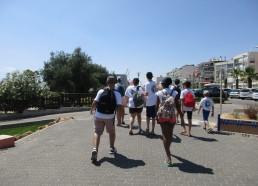 En route pour l'institut, 20 minutes de marche le long de la promenade