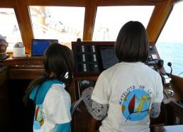 Roxane et Mathilde à la barre de Bora Bora