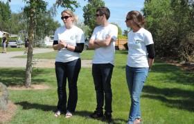 Équipage août, de gauche à droite : Elise (chef), Clément et Marion