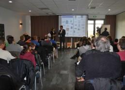 M.BRICAUD explique l'intérêt de financer un tel projet au sein de leur entreprise
