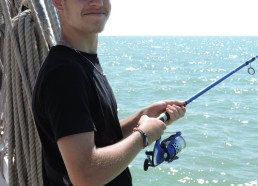 Corentin à la pêche