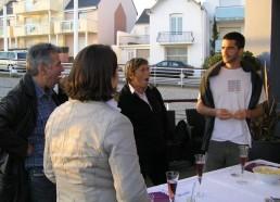 Discussion autour du buffet
