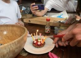 Préparation de l'anniversaire de Maryline