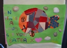 Fanion réalisé par les enfants de l'hôpital de St Nazaire (44)