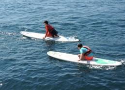 D'abord du paddle à genou