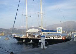 Le Patriarc'h au quai dans le port de Calvi !