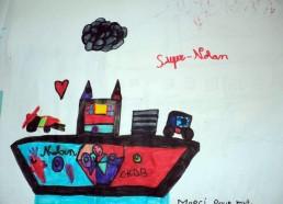 Concours dessins : Mon bateau imaginaire - Nolan - Hôpital National de SAINT-MAURICE