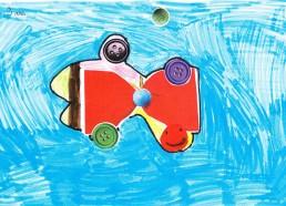 Concours dessin : Mon plus beau poisson - Orianne, 9 ans - CHD Vendée La Roche sur Yon