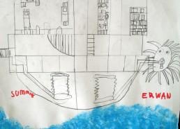 Concours dessins : Mon bateau imaginaire - Erwann - Centre Hospitalier Yves Le Fol Saint-Brieuc