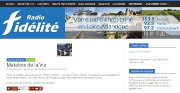 Au cœur des assos : Matelots de la Vie, Radio Fidélité, 24 octobre 2017