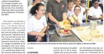 Une escale Au Pain d'Auré, Les Sables Vendée Journal 16 août 2018