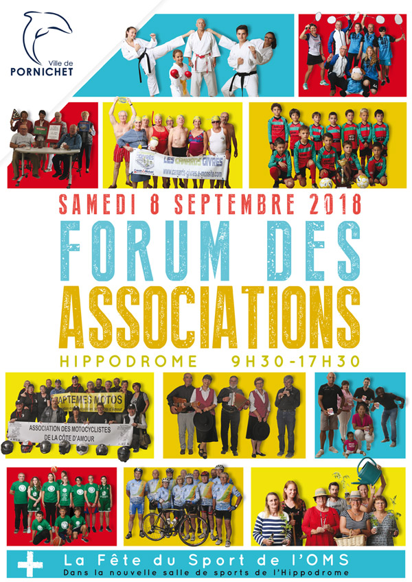 Affiche du Forum des Associations de Pornichet 2018
