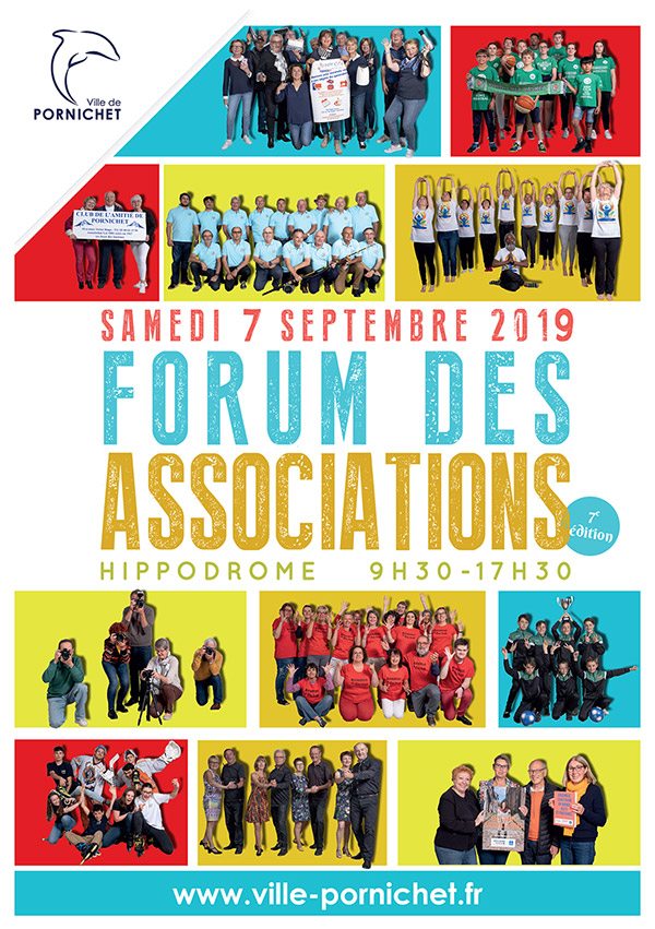 Affiche du Forum des Associations de Pornichet 2019